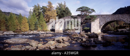 Famous landmark, Invercauld Bridge, River Dee, Braemar.Aberdeenshire. Scotland  GPAN 0031 - Stock Photo