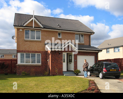 Modern detached house in Motherwell Scotland GB UK - Stock Photo