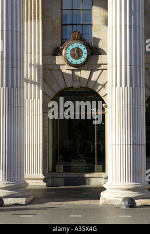 columns of the general post office GPO in o connell street the clock and window dublin - Stock Photo