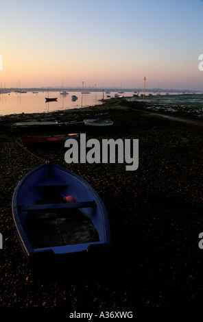 Dawn, Chichester Harbour, Emsworth, Hampshire, England, UK - Stock Photo