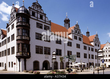 Europa Europe Germany Deutschland Sachsen Saxony Torgau Rathaus Town Hall - Stock Photo