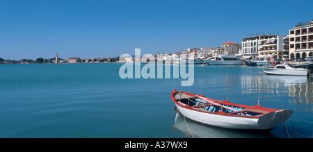 Panoramic view over the harbour, Zakynthos Town, Zakynthos (Zante), Ionian Islands, Greece - Stock Photo