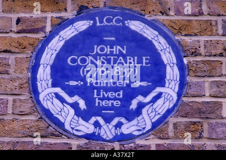 Constable Blue Plaque Well Walk Hampstead - Stock Photo
