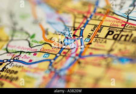 Map Detail - Stock Photo