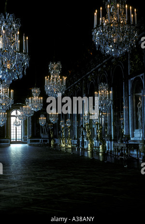 Hall of Mirrors, Grand Gallery, Palace of Versailles, city of Versailles, Ile-de-France, France, Europe - Stock Photo