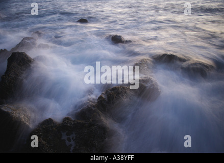 Time delay of flowing water - Stock Photo