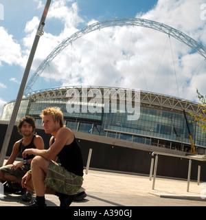 Wembley Stadium London England UK - Stock Photo