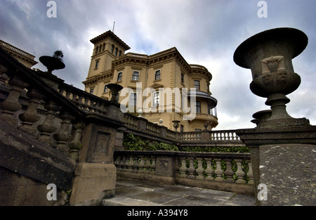 Osborne House near East Cowes on the Isle of Wight the country retreat and family home of Queen Victoria and Prince - Stock Photo