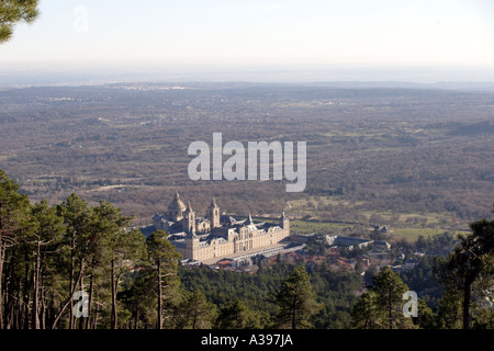 Monastery and Palace of San Lorenzo de El Escorial - Stock Photo