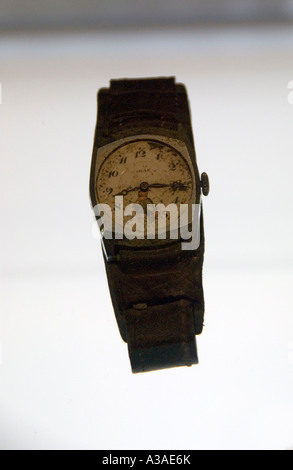 Watch in Peace Memorial Museum, Hiroshima Japan, Stopped at exact moment of bomb blast 8.15,  August 6th 1945