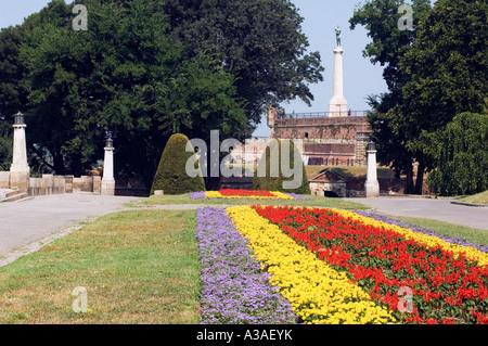 The Balkans Serbia Belgrade Garden in the Grounds of the Kalemegdan Citadel - Stock Photo