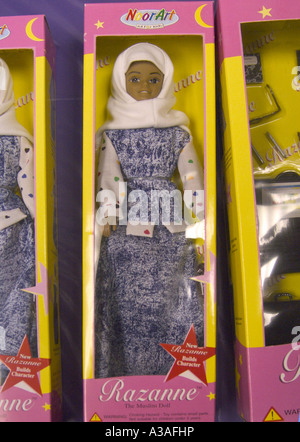 Razanne The Muslim Doll Close in Box 2 - Stock Photo
