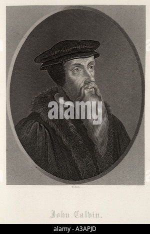 John Calvin French France theologian 1509 1564 reformer 16th century leader Protestant reformation Calvinism Christian - Stock Photo