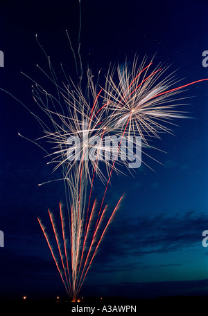 Firework display. - Stock Photo