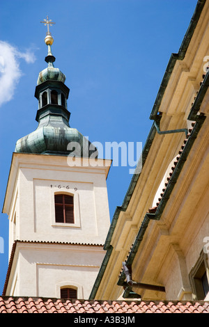 CZECH REPUBLIC Bohemia Prague Little Quarter Baroque Church of Our Lady Victorious houses effigy of Holy Infant - Stock Photo