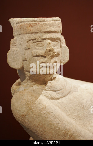 A sculpture of Chac Mool from Palace of the Sculpted Columns, Chichen Itza , - Stock Photo