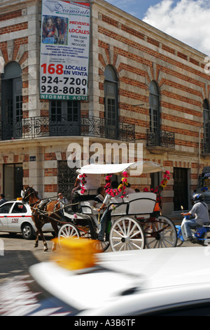 The Main Square Merida Mexico - Stock Photo