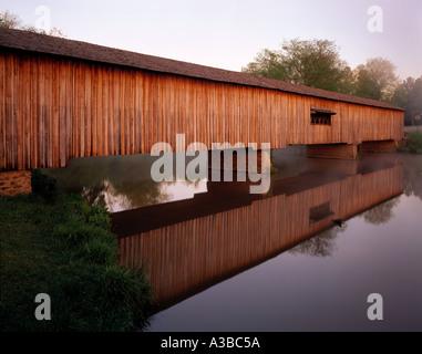 Watson Mill Bridge Watson Mill Bridge State Park Georgia - Stock Photo