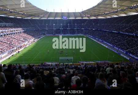 SV Hamburg football club playing a league game at the AOL Arena against Hansa Rostock. - Stock Photo