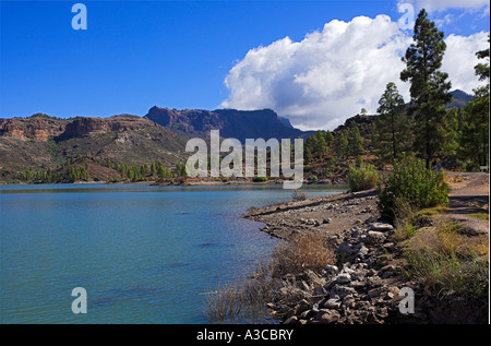 reservoir embalse de Chira - Stock Photo