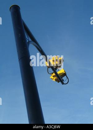 Speed camera gantry Cornwall UK - Stock Photo