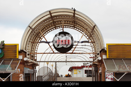 Entrance to the Pier at Cleethorpes Lincolnshire England UK - Stock Photo