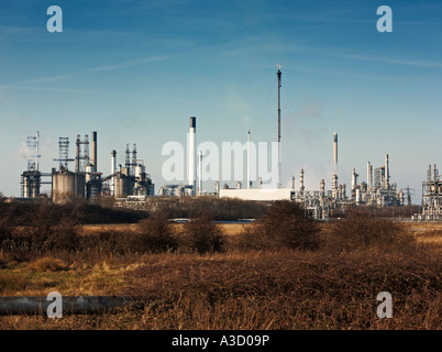 Conoco Phillips Oil Refinery at South Killingholme, Immingham, Lincolnshire, England, UK - Stock Photo