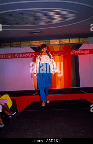 fashion model on runway, fashion model, runway, city of Kingston, Kingston, Jamaica - Stock Photo