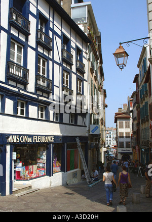 Characteristic View of Bayonne Centre Aquitaine Southwest France Europe - Stock Photo