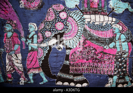 Elephant Batik Sri Lanka Depicting The Kandy Esala