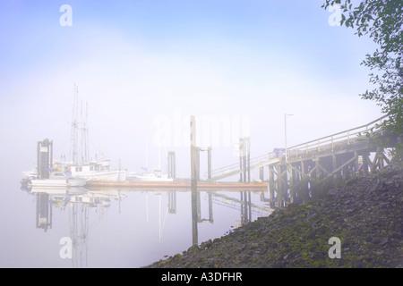 Dock on ocean - Stock Photo