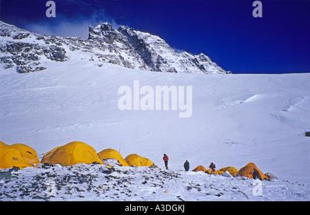 Camp IV, 4 (7950m), South Col, Mount Everest, Himalaya, Nepal - Stock Photo