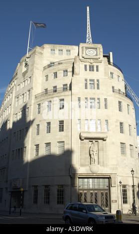 Broadcasting House BBC Corporate Headquarters London - Stock Photo