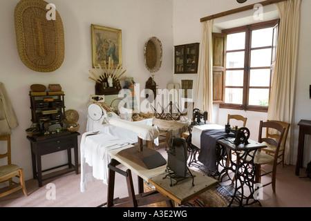 A room of the manor Camino d els Calderers d San Juan, Majorca Stock ...