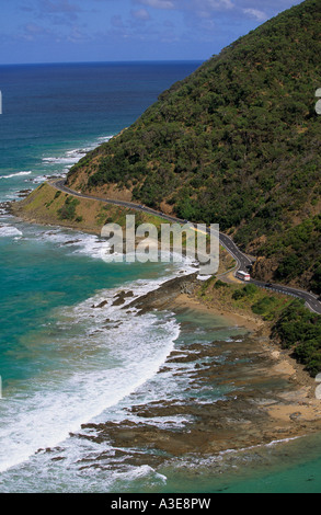 View from Teddys Lookout Lorne Great Ocean Rd Victoria Australia Vertical  - Stock Photo