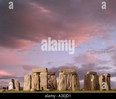 GB - WILTSHIRE: Megalithic Stonehenge - Stock Photo