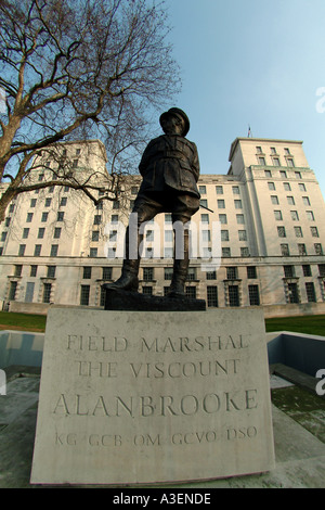 Field Marshall Viscount Alan Brooke Whitehall Parliament street London Westminster SW1 - Stock Photo