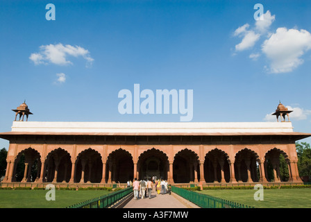 Panoramic view of a fort, Red Fort, New Delhi, India - Stock Photo