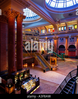 Royal Exchange Theatre within the Royal Exchange St Ann's Square Manchester England - Stock Photo