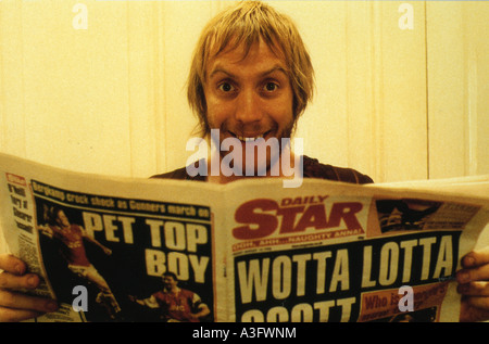 NOTTING HILL  1999 Polygram/Working Title film with Rhys Ifans - Stock Photo