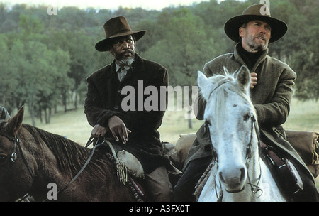 UNFORGIVEN  1992 Warner film with Clint Eastwood and Morgan Freeman - Stock Photo