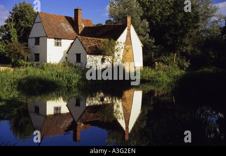 willy lotts house flatford mill, suffolk, uk,  location of famous john constable painting - Stock Photo