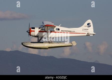 De Havilland Canada DHC2 Beaver floatplane - Stock Photo