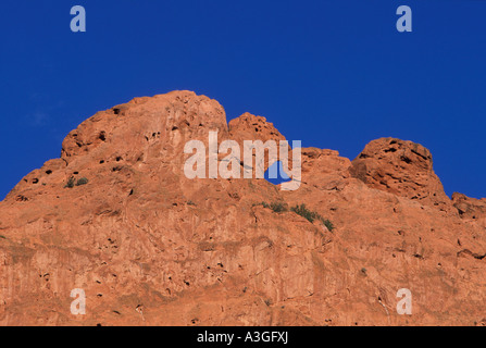 Kissing camels, one of the signature rock formations of Garden of the Gods, Colorado Springs, Colorado. - Stock Photo