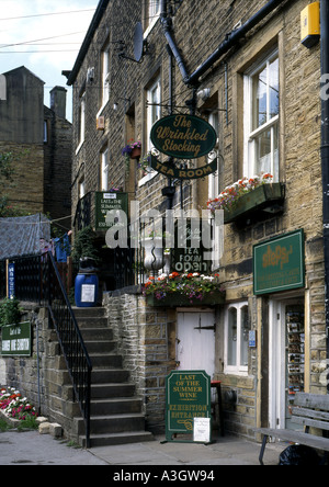 The location used for Clegg s and Nora Batty s houses in the BBC TV series Last of the Summer Wine - Stock Photo