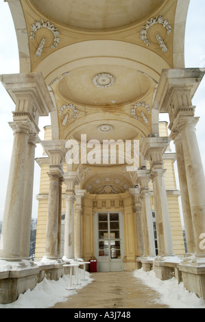 arcade of the Gloriette near the palace Schönbrunn in winter Vienna Austria - Stock Photo
