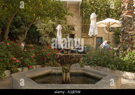 Inner courtyard of the American Colony hotel in East Jerusalem Israel - Stock Photo