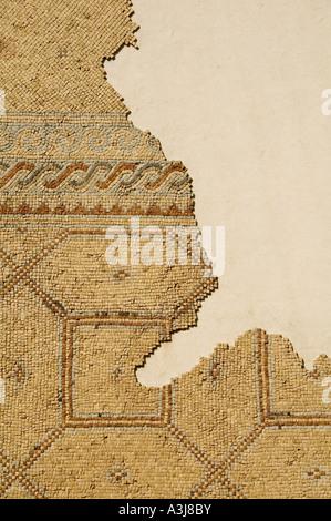Floor mosaic exhibit at the Rockefeller museum East Jerusalem Israel - Stock Photo