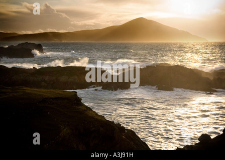 Atlantic Drive, Achill Island, Co. Mayo, Ireland - Stock Photo