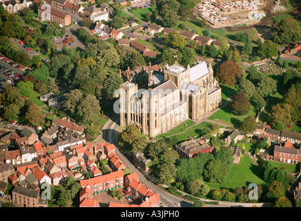 Ripon Cathedral North Yorkshire UK aerial view